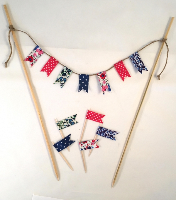 Red, White & Blue Flag Cake Toppers