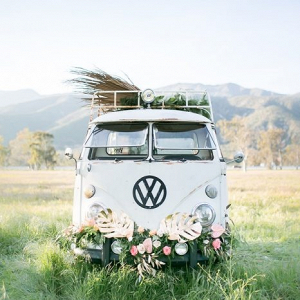 Wedding retro VW van