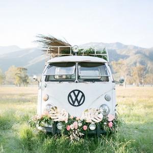 Wedding retro VW van