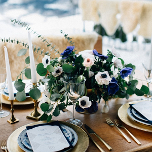 Wintery tablescape
