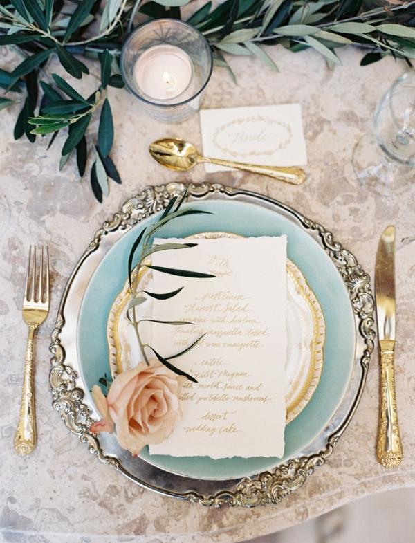 Elegant Vintage Inspired Wedding Place Setting