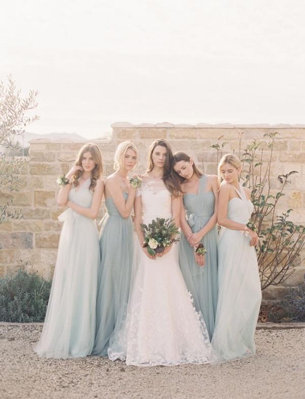 Mismatched Tulle Bridesmaid Dresses