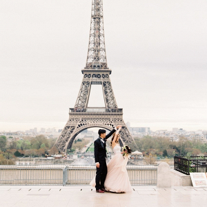 Paris elopement at the Eiffel Tower