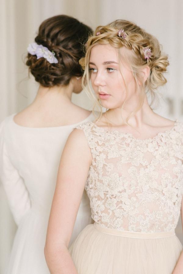 Boho vintage braided bridal updos