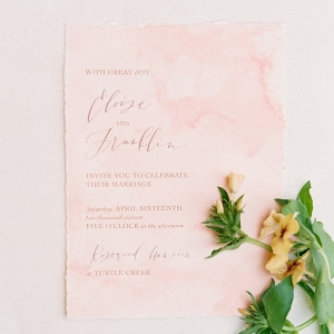 Calligraphy invitation on Chic Vintage Bride