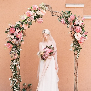 Floral arch on Chic Vintage Brides