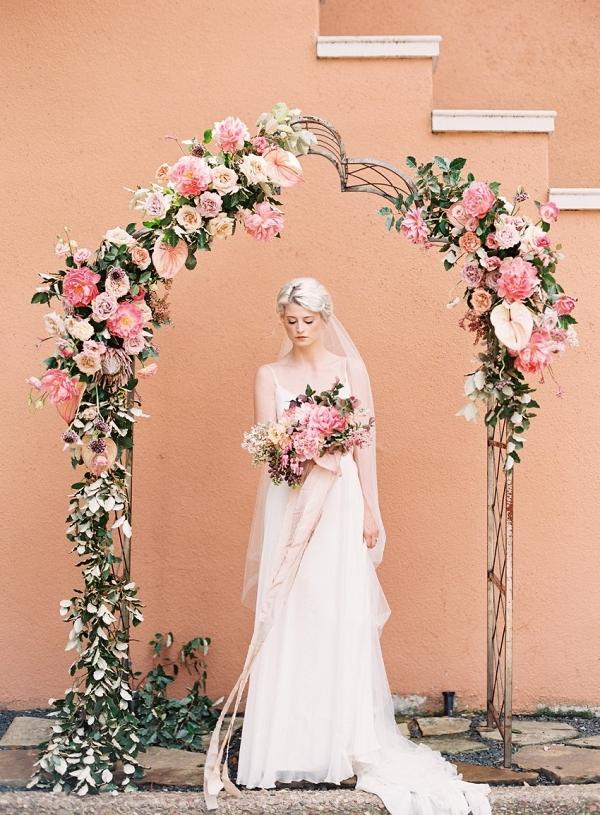 Floral arch on Chic Vintage Brides