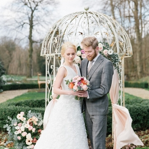 Romantic Garden Wedding Ceremony Decor