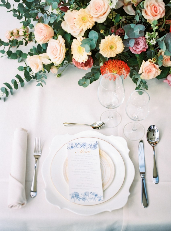 Romantic Wedding Place Setting