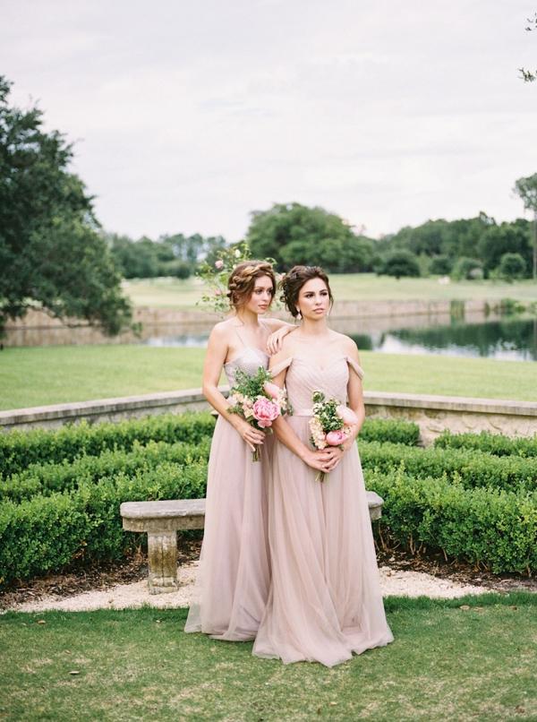 Mismatched Pink Bridesmaids