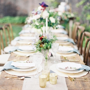 Elegant Garden Wedding Tablescape