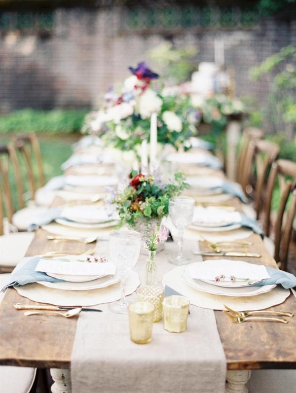 Elegant Garden Wedding Tablescape