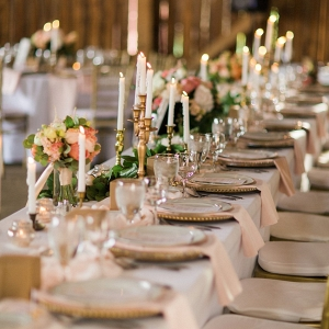 Elegant Barn Wedding Reception Decor