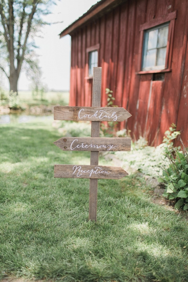 DIY Wooden Wedding Sign