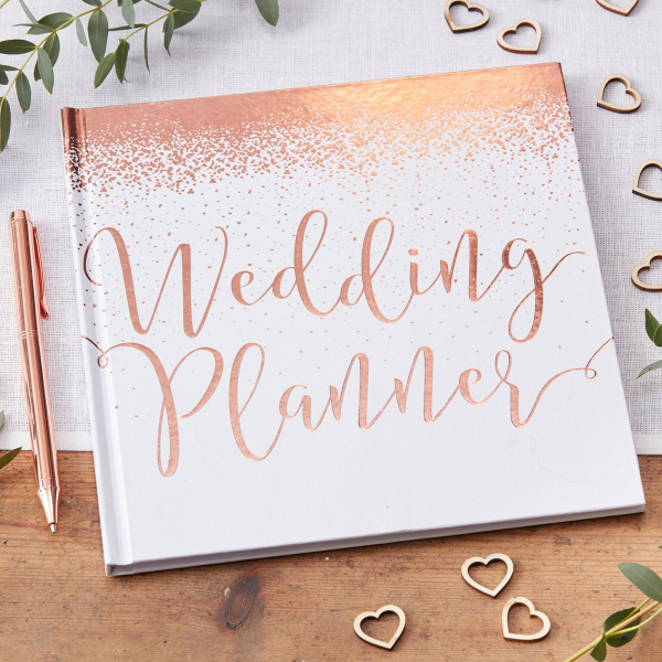 Rose gold wedding planner book aisle society rose gold wedding planner book junglespirit Choice Image