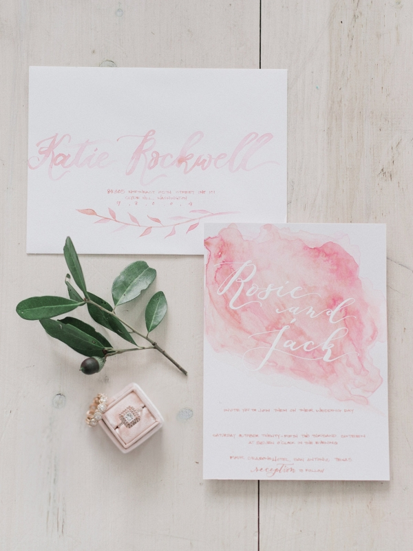 Watercolour Hand Calligraphy Wedding Stationery