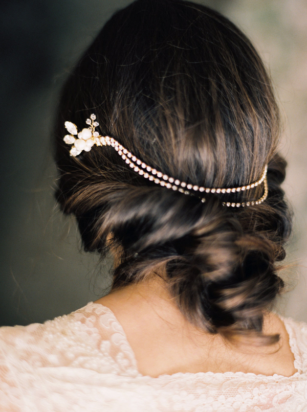Rhinestone & Pearl Bridal Headpiece