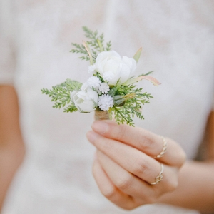 Rustic Floral & Greenery Boutonniere