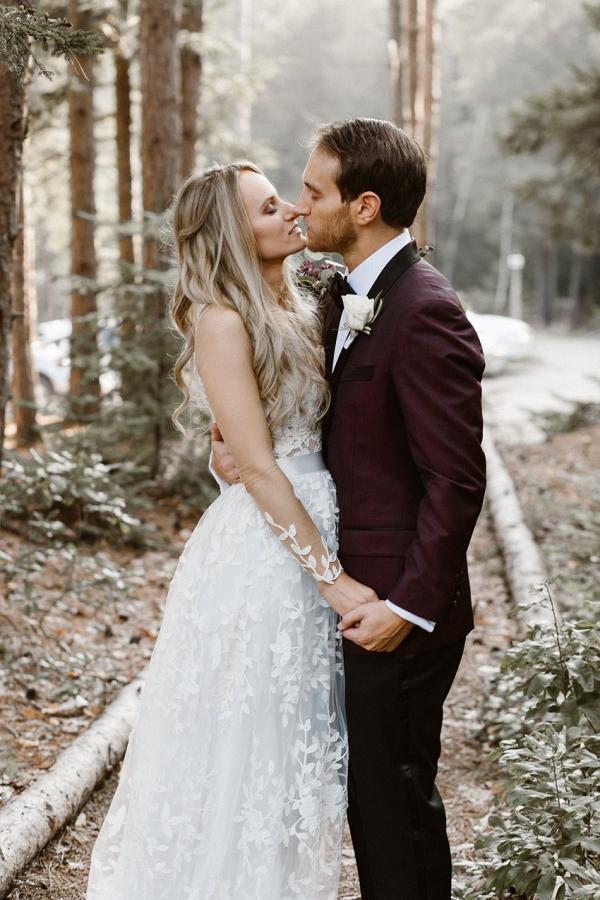 Rustic vintage woodland wedding