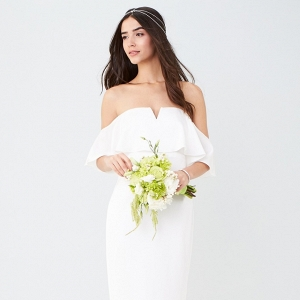 Off the Shoulder Budget Friendly Wedding Dress