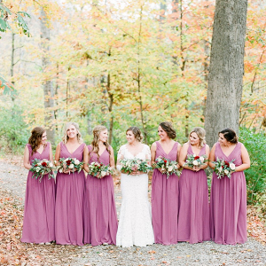Fall dusty pink bridesmaid dresses