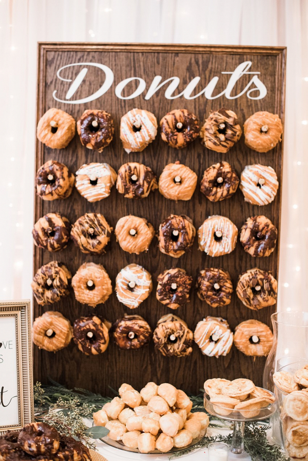 Wedding doughnut wall