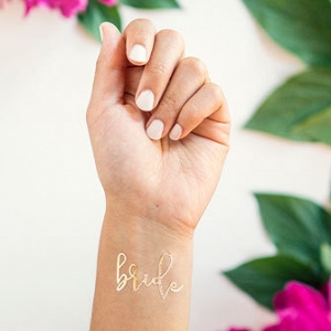 'Bride' Gold Temporary Tattoo