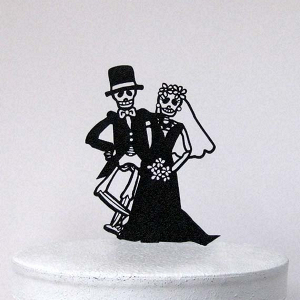 Skeleton Wedding Cake Topper