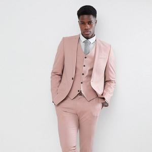 Skinny Suit in Dusky Pink