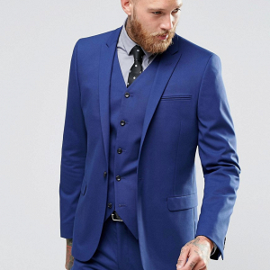 Royal Blue Groom's Suit Jacket