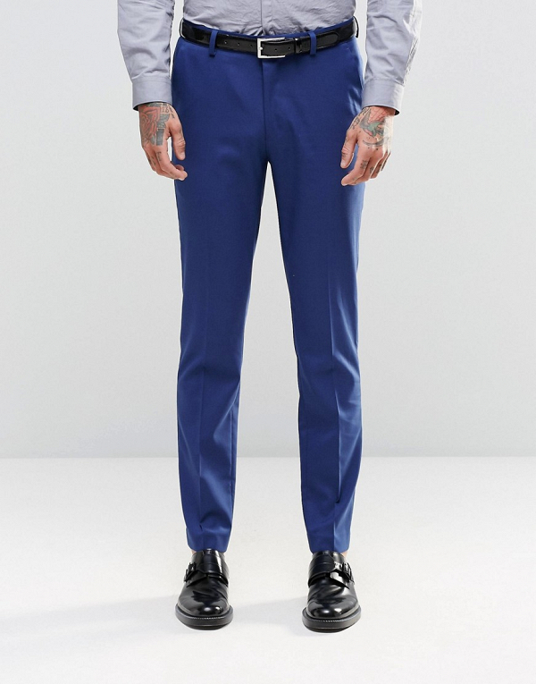Royal Blue Groom's Suit Trousers