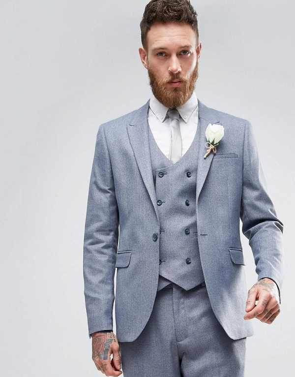 Slate Gray Groom's Suit Jacket