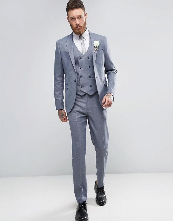 Slate Gray 3 Piece Suit