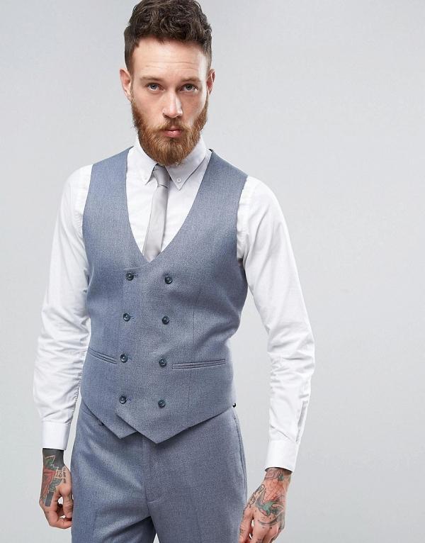 Slate Gray Groom's Waistcoat