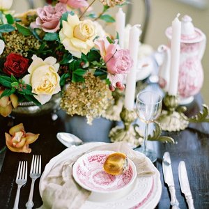 Vintage Floral Wedding Place Setting