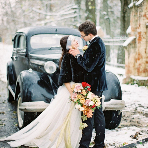 Snowy Vintage Wedding