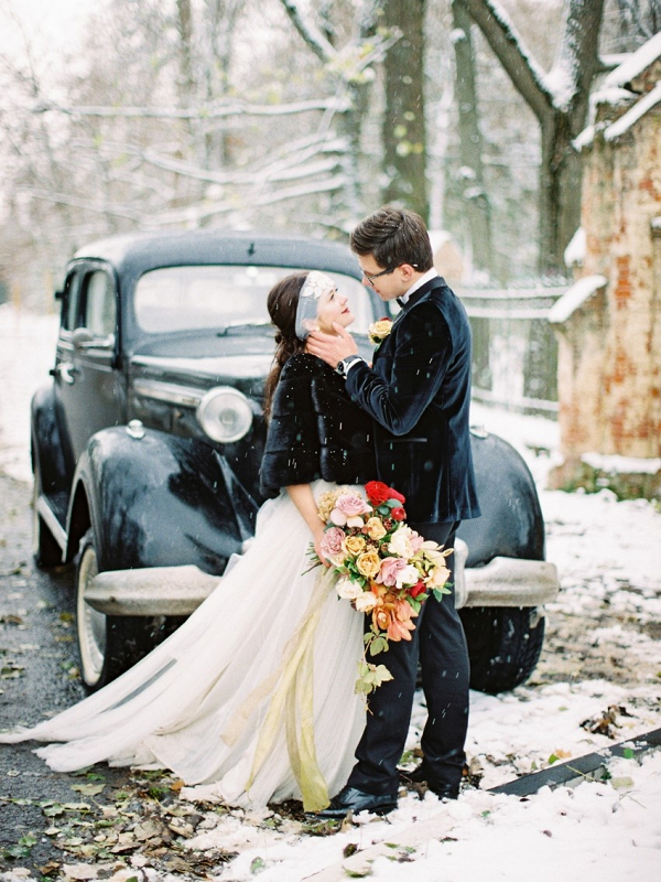 Snowy Vintage Wedding