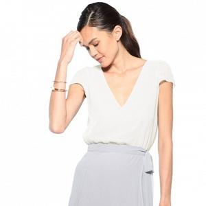 'Sonya' Chiffon Cap Sleeve Top