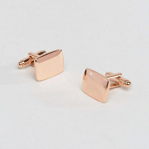 Square Rose Gold Cuff Links