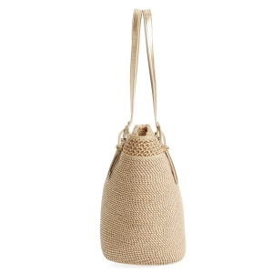 Squishee® Straw Summer Tote Bag
