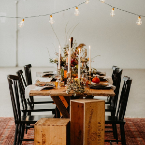 Fall wedding table