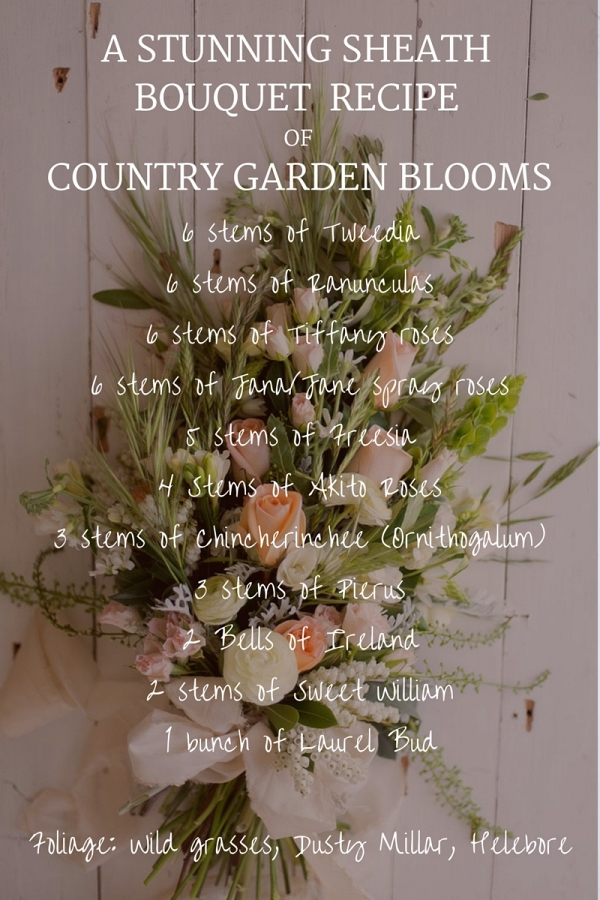Stunning Sheath Bridal Bouquet Recipe