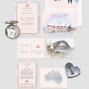 Destination Sydney Australia Wedding Invitations