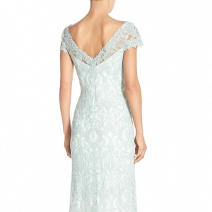 Tadashi Shoji Lace Column Mother of the Bride Gown