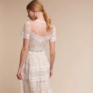Tea Length  Saylor Wedding Dress Back