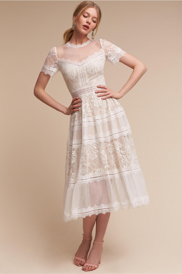 BHLDN Tea Length Wedding Dress