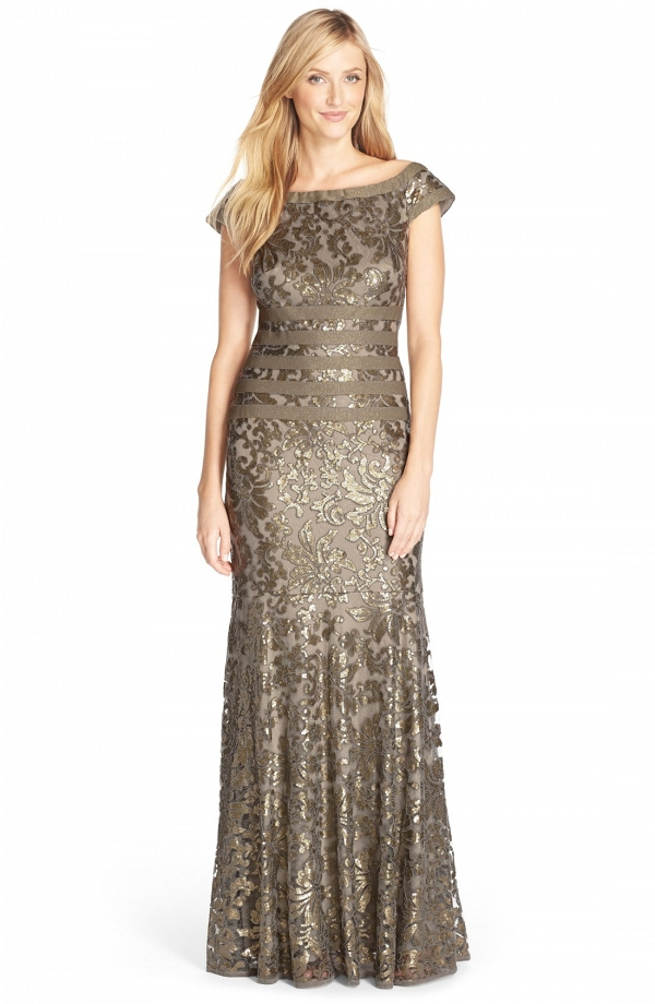 Tadashi Shoji Sequin Mother of the Bride Mermaid Gown
