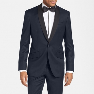 Ted Baker 'Josh' Trim Fit Contrast Lapel Navy Tuxedo