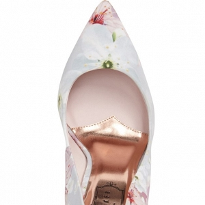 Ted Baker 'Kawaap' Blossom Print Pointy Toe Pump