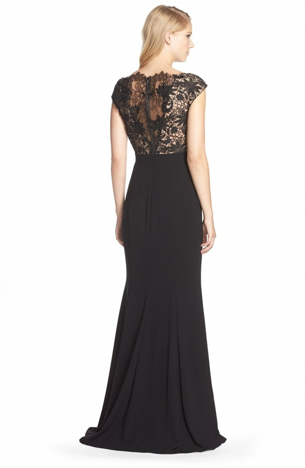 Illusion Back Mother of the Bride Gown